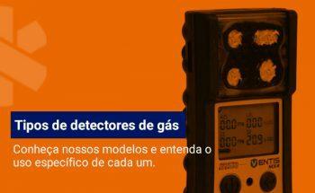 Quais os tipos de detectores de gás?